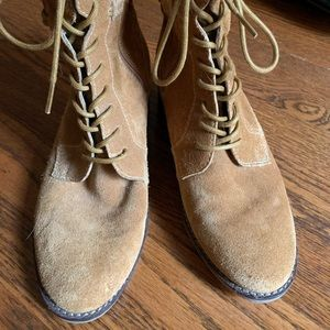 Suede Hush Puppies ankle boots.